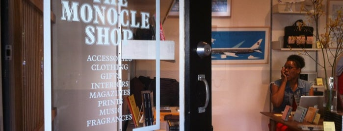 Monocle Shop is one of NY.