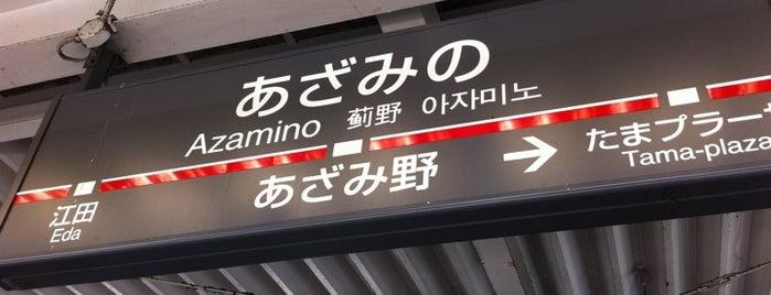 東急田園都市線 あざみ野駅 (Azamino Sta.) (DT16) is one of Station.
