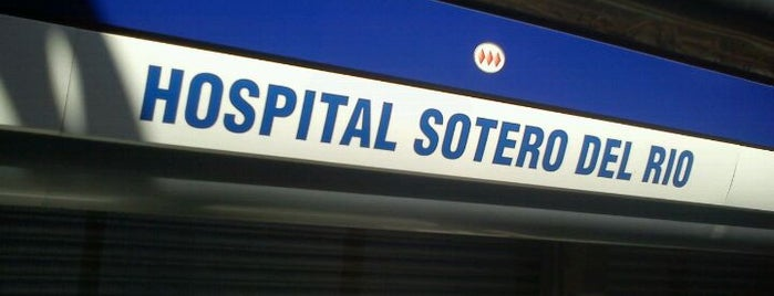 Metro Hospital Sótero del Río is one of Metro de Santiago L4.