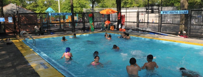 Marie Curie Park is one of NYC Parks' Free Outdoor Swimming Pools.