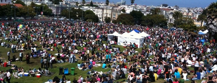 Mission Dolores Park is one of SF reccomends.