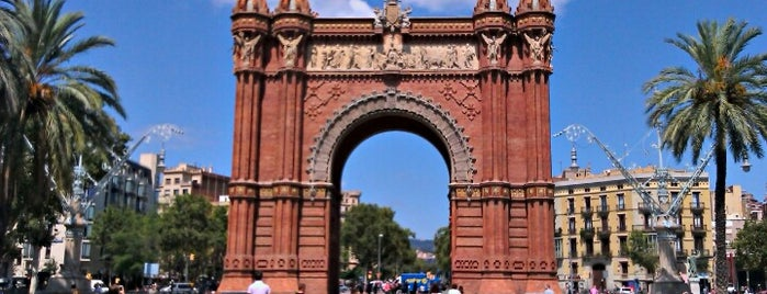 Triumphal Arch is one of Barcelona.