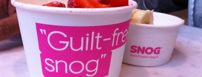 Snog Pure Frozen Yogurt is one of The Fashionista's Guide to London, UK.