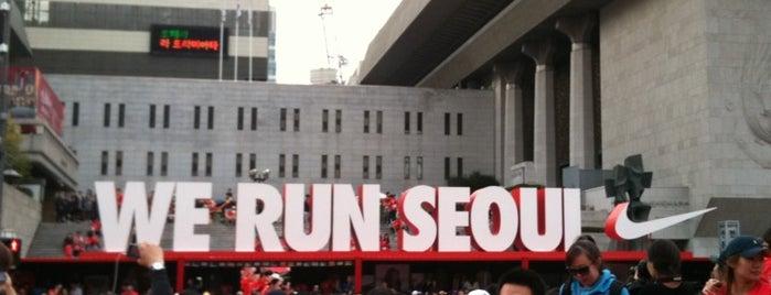 광화문광장 (Gwanghwamun Square) is one of Seoul City Badge - Lucky Seoul.