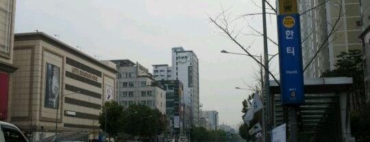 한티역 (Hanti Stn.) is one of Subway Stations in Seoul(line1~4 & DX).