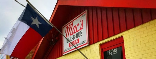 Mac's Bar-B-Que is one of Dallas Barbecue.