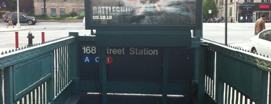 "MTA Subway - 168th St (A/C/1) is one of ""Be Robin Hood #121212 Concert"" @ New York!."