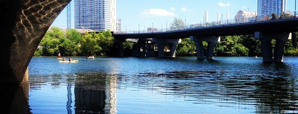 Lady Bird Lake Under Lamar Blvd Bridge is one of i see hot people.
