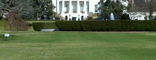 South Lawn - White House is one of Bill Clinton Foursquare Challenge.