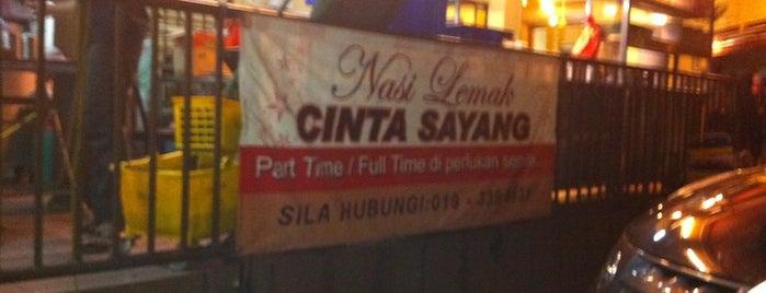 Nasi Lemak Cinta Sayang is one of Must-visit Malaysian Restaurants in Shah Alam.