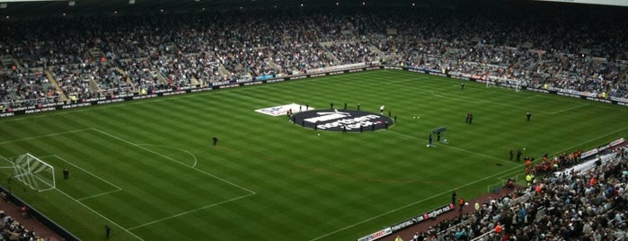 St James' Park is one of Football grounds visited.