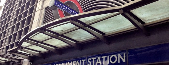 Monument London Underground Station is one of Zone 1 Tube Challenge.