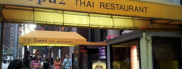 Topaz Thai is one of NYC casual eats.