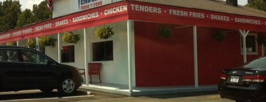 Tenders Fresh Food is one of Must-visit Fast Food Restaurants in Mooresville.