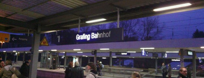 Bahnhof Grafing is one of München S-Bahnlinie 4.