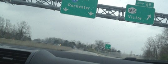 Exit 45 - Rochester / Victor / I-490 is one of Roc.