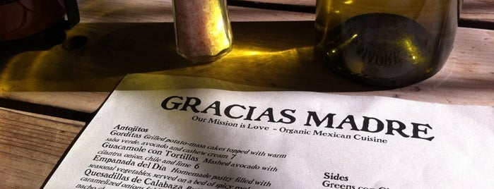 Gracias Madre is one of SF reccomends.