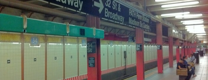 "MTA Subway - 34th St/Herald Sq (B/D/F/M/N/Q/R) is one of ""Be Robin Hood #121212 Concert"" @ New York!."