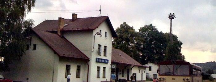 Železniční stanice Humpolec is one of Železniční stanice ČR: H (3/14).