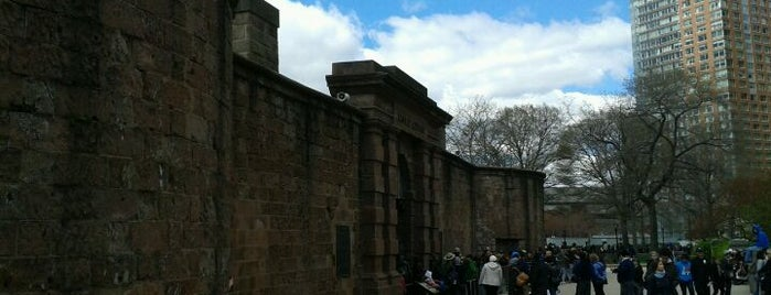 Castle Clinton National Monument is one of NYC's Historic War Sites.