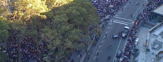 #OCCUPYWALLSTREET is one of Manhattan.