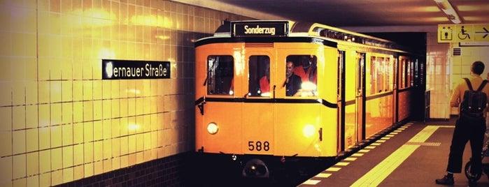 U Bernauer Straße is one of Besuchte Berliner Bahnhöfe.