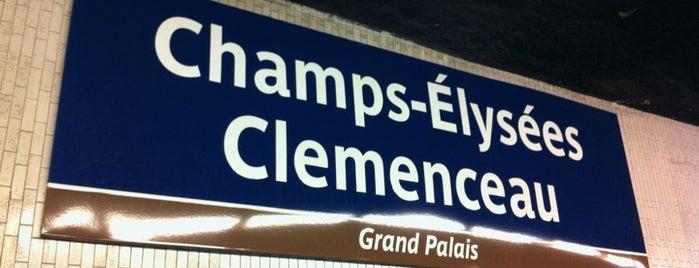 Métro Champs-Élysées – Clemenceau [1,13] is one of Paris, FR.