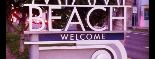 Welcome To Miami Beach Sign is one of favoriteplaces.