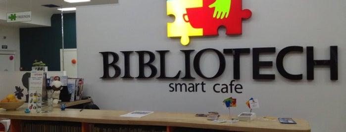 Smart Cafe BIBLIOTECH is one of Cafe Kyiv (Kiev, Ukraine).