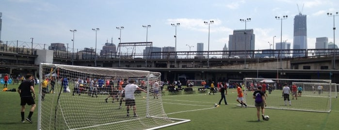 Pier 40 Soccer Fields is one of NYC Soccer.