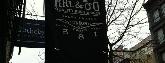 RRL is one of Menswear New York.
