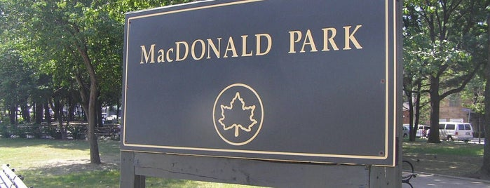 MacDonald Park is one of Wi-Fi in NYC Parks.