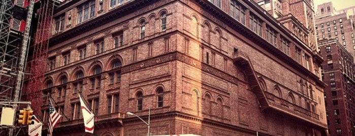 Carnegie Hall (Stern Auditorium/Perelman Stage) is one of Architecture - Great architectural experiences NYC.