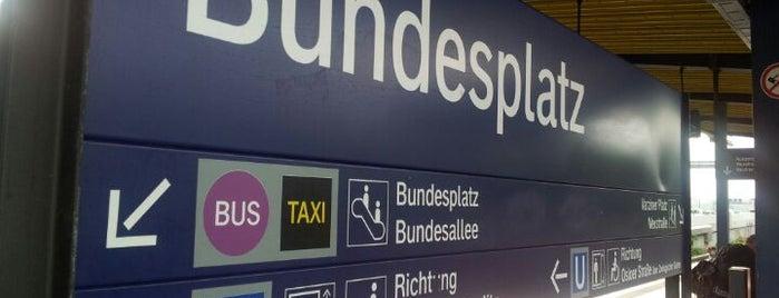 S+U Bundesplatz is one of Besuchte Berliner Bahnhöfe.