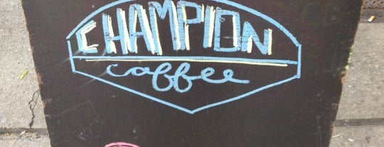 Champion Coffee is one of NY Espresso.