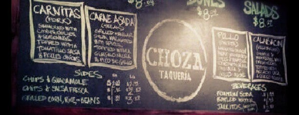 Choza Taqueria is one of Eat it!.