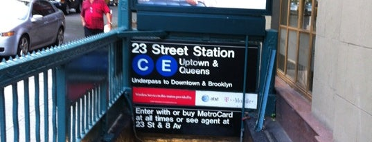 "MTA Subway - 23rd St (C/E) is one of ""Be Robin Hood #121212 Concert"" @ New York!."