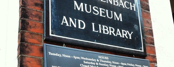Rosenbach Museum & Library is one of Museums, etc..