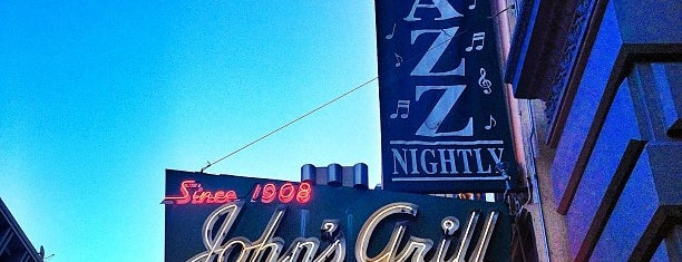 John's Grill is one of Favorite dinner spots on the Barbary Coast.
