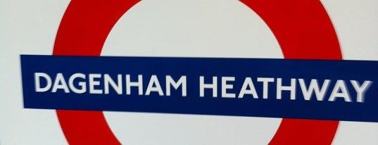 Dagenham Heathway London Underground Station is one of Tube Challenge.