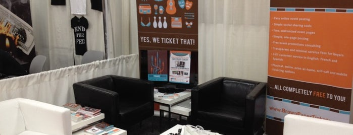 Brown Paper Tickets Booth at SXSW is one of Speakmans SXSW Venues in Austin.