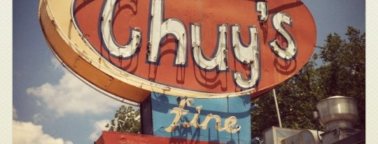 Chuy's is one of Hook 'Em Horns- Austin.