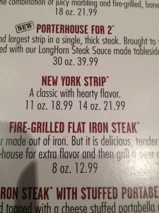 LongHorn Steakhouse,