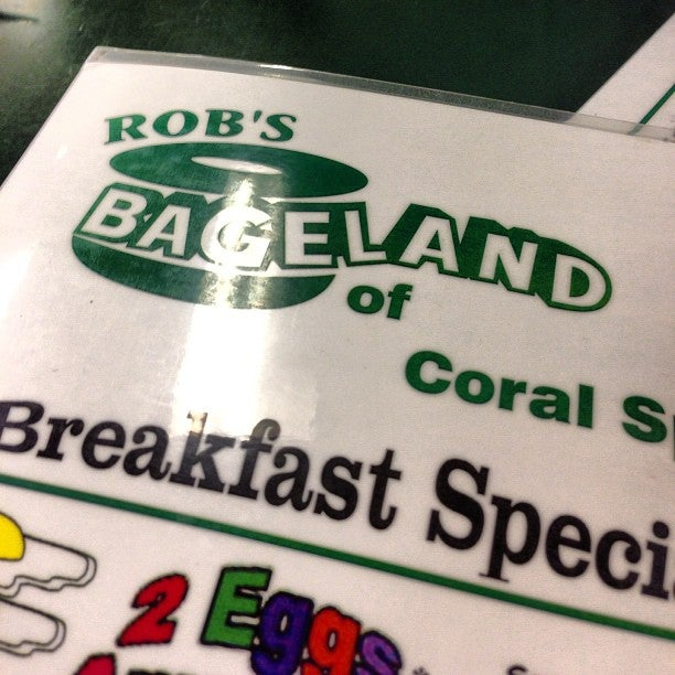 Rob's Bageland of Coral Springs,
