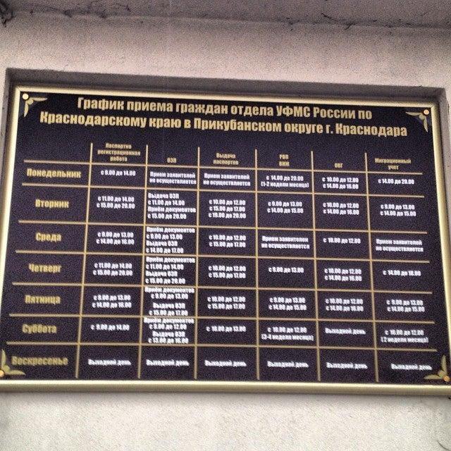 Паспортно-Визовая Служба Центрального Округа г. Краснодар УФМС ГУ отзывы, ул. Садовая,