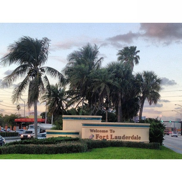 Welcome To Fort Lauderdale Main Sign