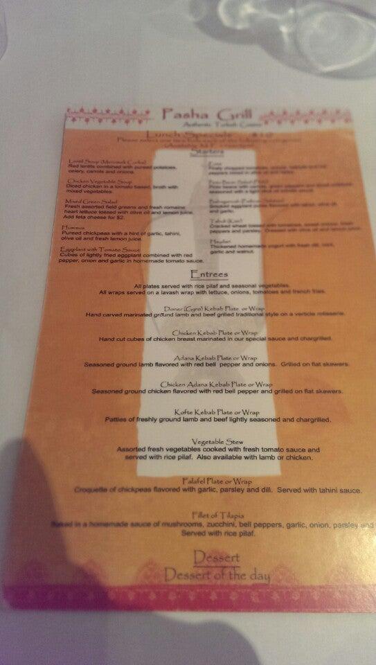 Pasha Grill,dining,the greene,turkish