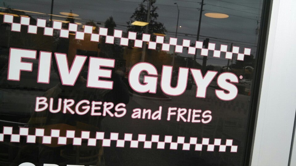 FIVE GUYS BURGERS AND FRIES,fast food,zagat rated