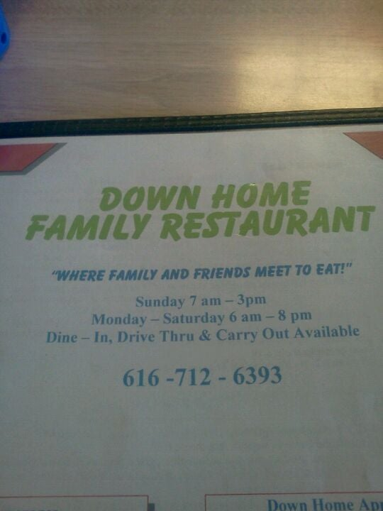 Down Home Family Restaurant,burgers, breakfast, fries, sandwiches, service