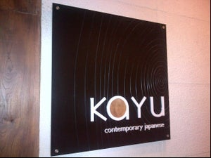 Kayu Contemporary Japanese Restaurant
